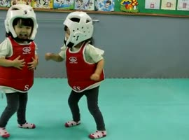 children being trained ninjas - Video