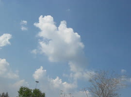 SMILING GOD GANESHA APPEARING IN SKY - Video