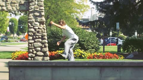 Slow Motion Parkour with No Anchor