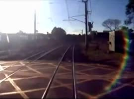 Train Near-Miss As Man Cheats Death