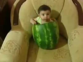 baby with watermelon - Video
