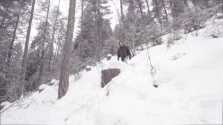 Parkour Stunts In the Snow
