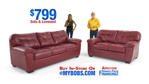 Bobs Furniture - Sofa Set