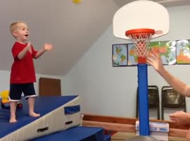 Kid is Gonna Dunk It! - Video