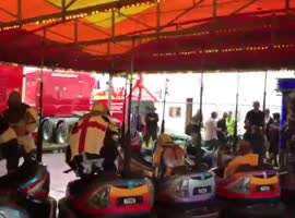 Knights Have Bumper Car Sword Battle - Video