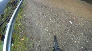 POV of Bike Base Jump off Cliff Road! - Video