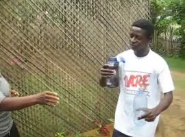 Human Water Fountain from Liberia - Video