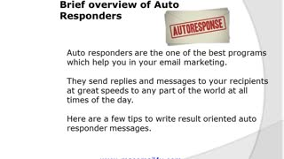 Designing AUTORESPONDER MESSAGES - Video