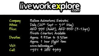 Hot Air Ballooning in UAE - Video