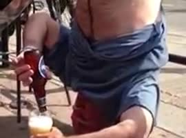 Drunken guy showing