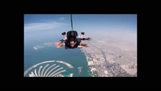 Skydiving Over the Palm Islands In Dubai! - Video