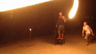 Flipping Into a Rope of Fire! - Video