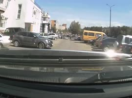 Woman Driver Doesn't Notice Car