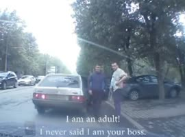 -Driver Interacts with Robbers- - Video