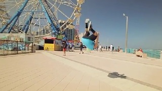 Tricking Daytona Beach in Slow Motion - Video