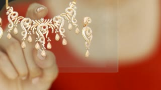 Indian gold jewelry | 22 karat gold jewellery | gold earrings - Video