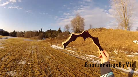 Handcrafted Batarang: Batman's Boomerang In Action!