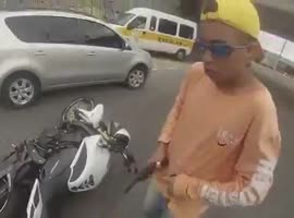 Bike Thief Learns Lesson - Video