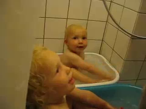 Little Boys Sings We Will Rock You In the Bath Tub