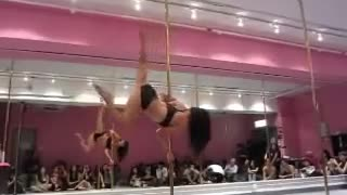 incredible pole dance skills - Video