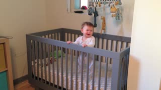 Baby Boogies Down in Her Crib - Video