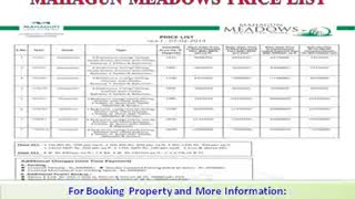 Best deal in Mahagun Meadows Sec 150 Noida - Video