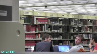 Farting in the UT-Austin Library during finals - Video