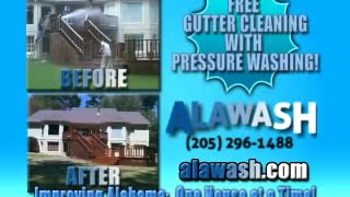 Pressure Washing Birmingham Alabama Homes Decks & Driveways - Video