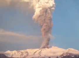 Amazing Time Lapse Volcano Eruption! - Video