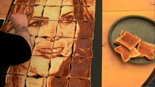 Artist Paints Kate Middleton on Toast with Marmite! - Video