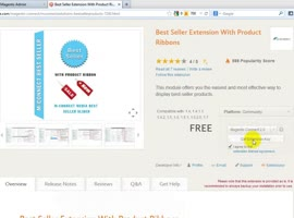 How to Install Magento Best Seller Extensions with Product Ribbon? - Video