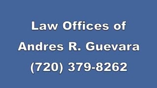 "Caught in Criminal Defense Case? - Here is Andres Guevara ""An Expert Attorney in Denver"" - Video"