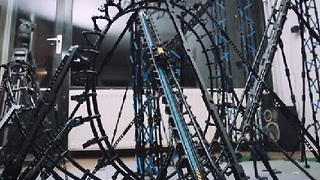 Roller Coaster Made Entirely From LEGO - Video