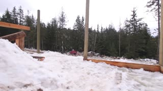 Grinding Flaming Snowboard Rails! - Video