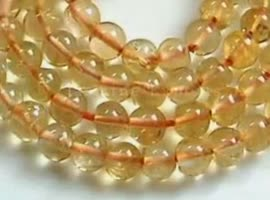 Natural Citrine Faceted Gemstone Beads - Video