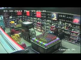man faints in shop 2 - Video