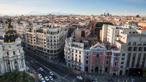 Time Lapse: Famous Sights of Madrid