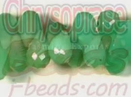 Chrysoprase Faceted Gemstone Beads - Video
