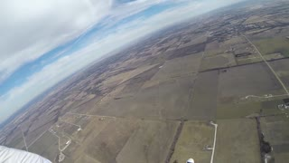Skydiver's Close Call With an Airplane