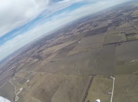 Skydiver's Close Call With an Airplane - Video