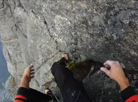 Climber Breaks Leg During 3900 Ft. Climb! - Video
