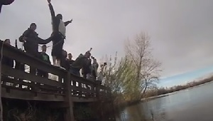 Bachelor Party Prank Sends Groom 'Bungee Jumping' - Video