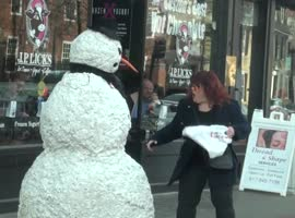 Scary Snowman Scare Prank! - Video