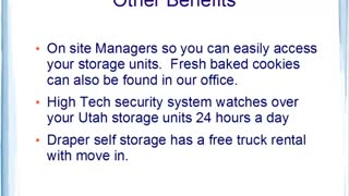 For Utah Self Storage in Draper Utah, Choose King Arthur Self Storage. - Video
