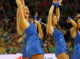 Zalgiris Kaunas Cheerleaders from Lithuania! - Video