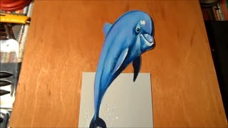 Drawing a 3D Dolphin! - Video
