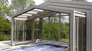Get Retractable enclosures for swimming pool - Video