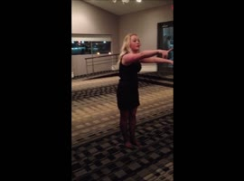 Drunk beauty doing a back flip fail - Video