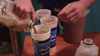 2.5 Gallons of Chocolate Milk Chugged in 3 Minutes - Video