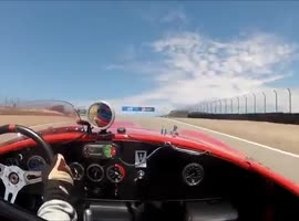 Watkins Glen 2012 Lorne Leibel 8 AC Cobra - Feature Race - June SVRA Event - Video